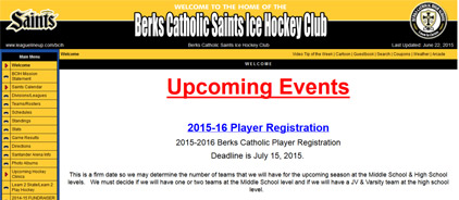 Berks Catholic Saints Ice Hockey Club
