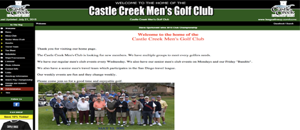 Castle Creek Men's Golf Club