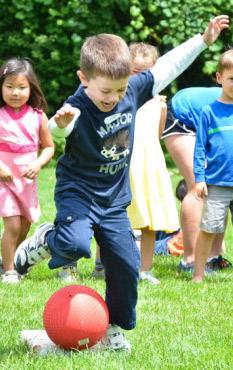 child-kickball