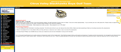 Citrus Valley Boys' Golf Team