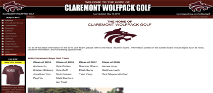 Claremont Wolfpack Golf