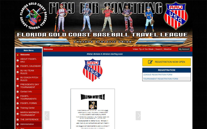 Florida Gold Coast Travel Baseball League
