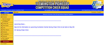 The Felmington Pioneers Competition Cheer Squad
