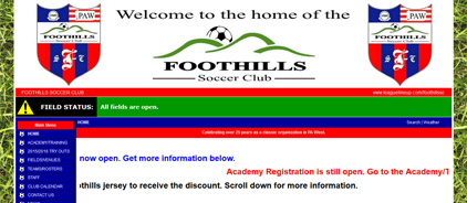 The Foothills Soccer Club