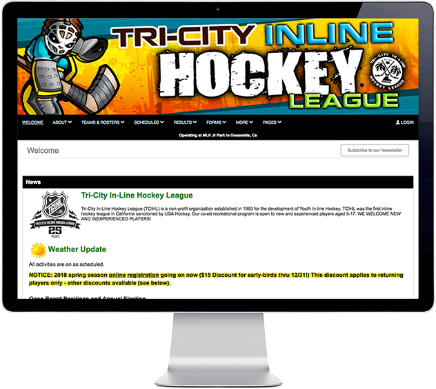 leaguelineup free sports website builder team mgmt
