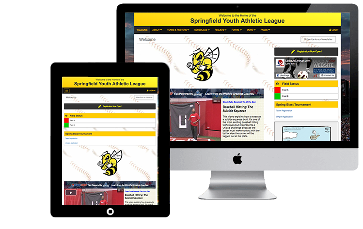 Build a WebSite For Youth and Amateur Sports Teams, Clubs & Leagues