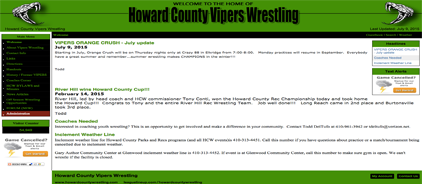 Howard County Vipers Wrestling