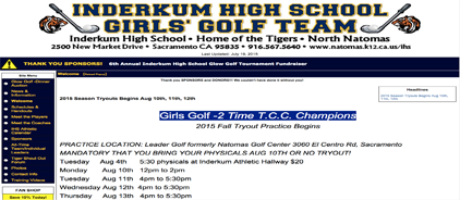 Inderkum High School Girls' Golf Team