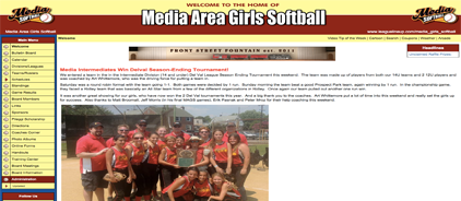 Media Area Girls Softball
