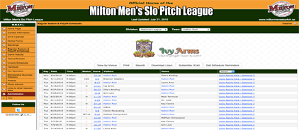 Milton Men's Slo Pitch League