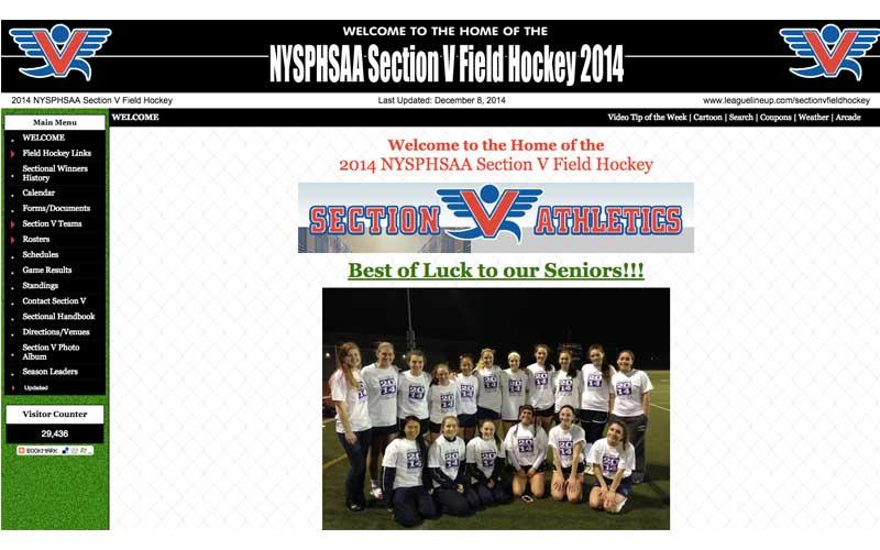 NYSPHSAA Section V Field Hockey