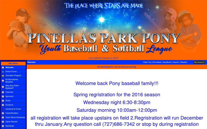 Pinellas Park Pony Youth Baseball & Softball League