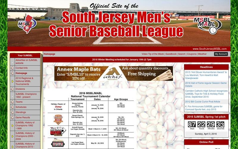South Jersey Men's Senior Baseball League