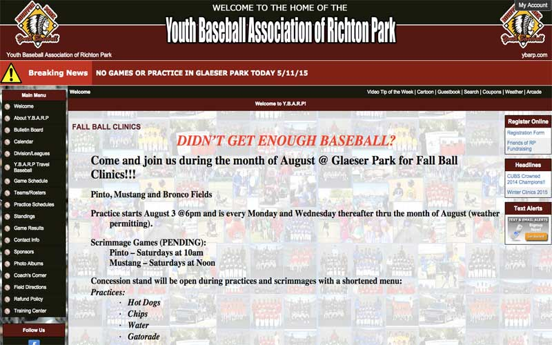 Youth Baseball Association of Richton Park